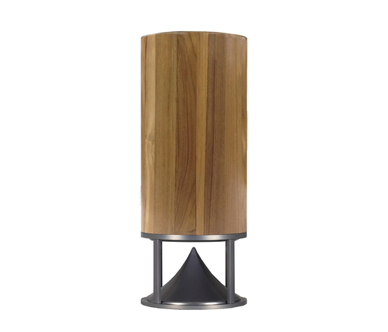 Cylinder Tall teak by Architettura Sonora | Speakers