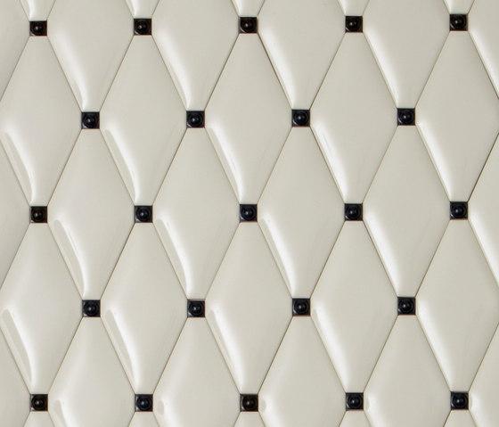 Capitonné pearl rounded with black insets de Petracer's Ceramics | Carrelage céramique