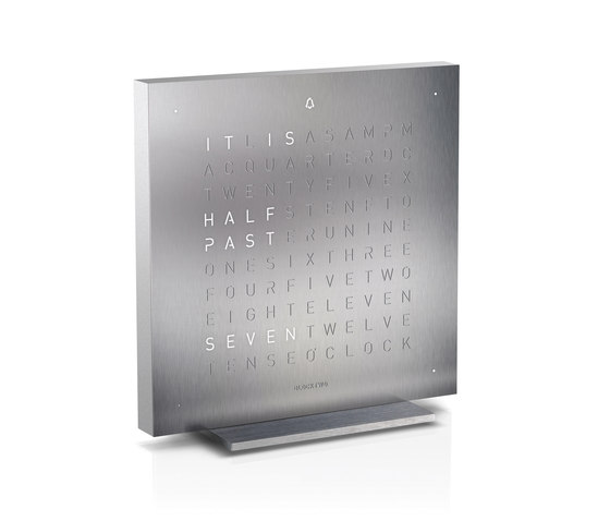 QLOCKTWO® TOUCH Full Metal by BIEGERT&FUNK | Clocks