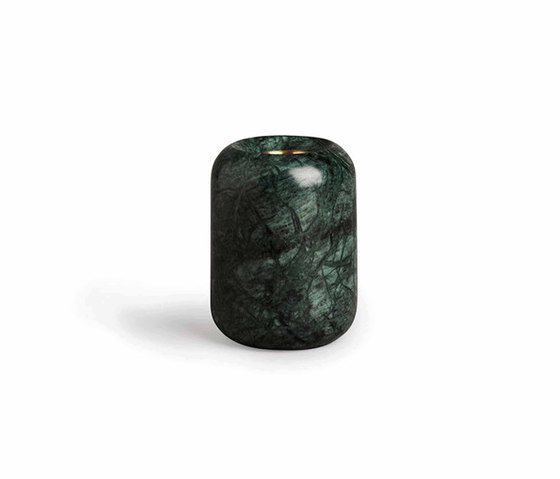 Balance Candle Holder Indian Green Marble | Medium by NEW WORKS | Candlesticks / Candleholder