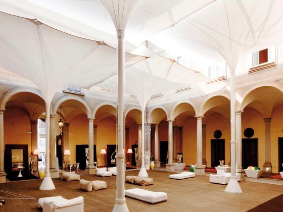 Type E Tulip umbrella by MDT-tex   Architectural systems