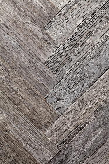 Stockholm Rough | White Oak, Weathered Herring-Bone by Imondi | Wood panels