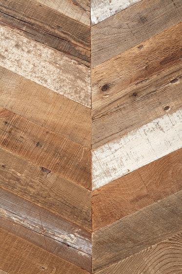 Uniquely Rio | Salvage Pine, Raw Chevron by Imondi | Wood panels