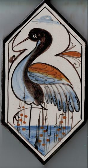 LR Losanga uccello de La Riggiola   Carrelage céramique
