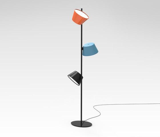 Tam Tam P3 blue black orange by Marset | Free-standing lights