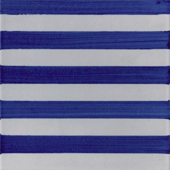 P Righe Blu Piccole de La Riggiola | Carrelage céramique