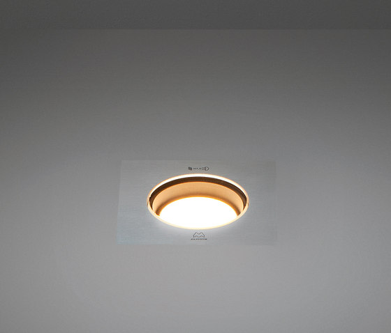 Hipy square 70x70 anti glare IP67 LED GE by Modular Lighting Instruments | Outdoor recessed floor lights