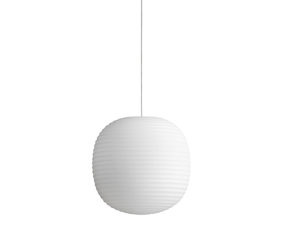 Lantern Pendant Frosted White Opal Glass | Medium by NEW WORKS | Suspended lights