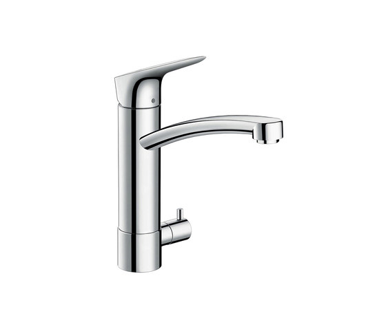 hansgrohe Logis Single lever kitchen mixer 220 with device shut-off valve by Hansgrohe | Kitchen taps