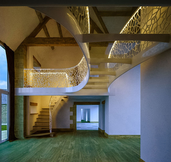 Cells balustrade light by EeStairs | Balustrades