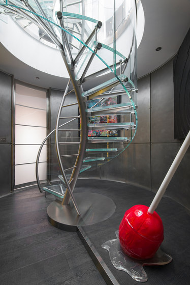 DNA | Floating | Helical Stairs Glass TWE-707 by EeStairs | Staircase systems