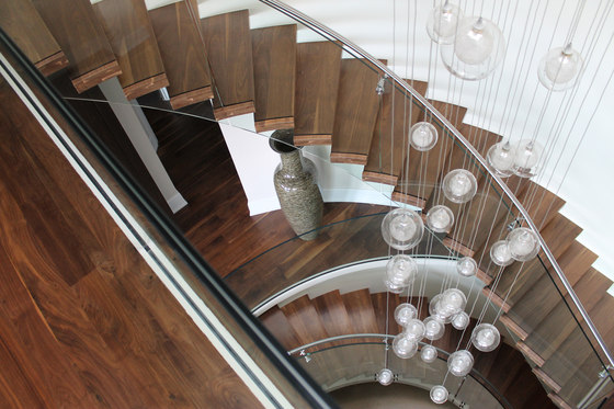 Helical | Floating Stairs Wood TWE-549 by EeStairs | Staircase systems
