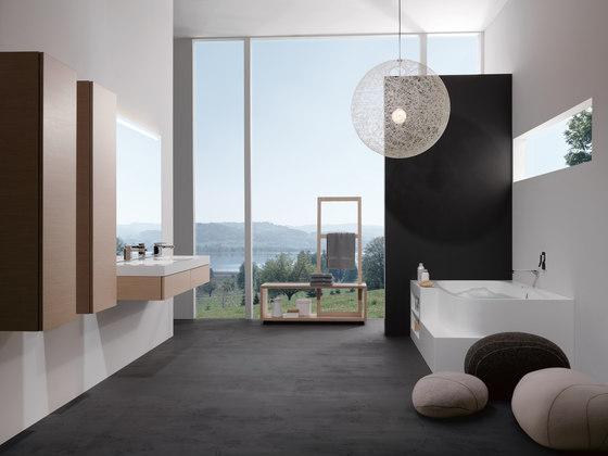 Badewanne aus Corian di talsee | Armadietti parete
