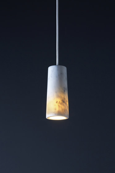 Core | Pendant in Carrara Marble by Terence Woodgate | Suspended lights