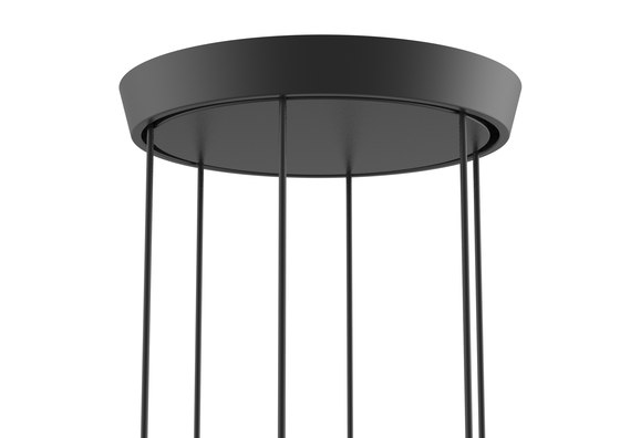Core | Three Pendant Cluster in Nero Marquina Marble di Terence Woodgate | Lampade sospensione