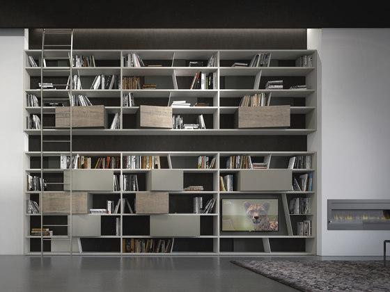crossART arrangement by Presotto | Wall storage systems