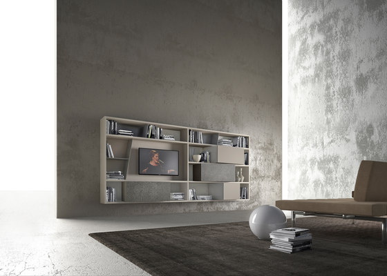 crossART arrangement by Presotto | Wall storage systems