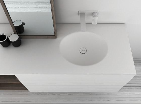 KA Solidsurface® Washbasin Countertop de Inbani | Lavabos mueble