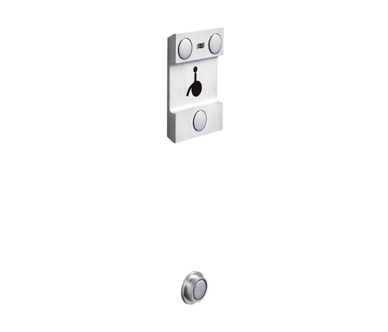 Confort Wall support with design plate for art. AH997A - AH997C by Inda | Towel rails