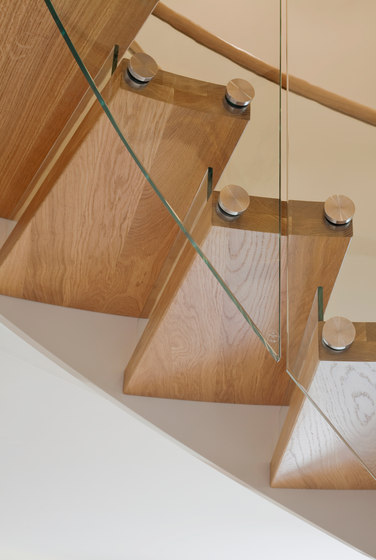 Floating Stairs Wood TWE-525 by EeStairs | Staircase systems