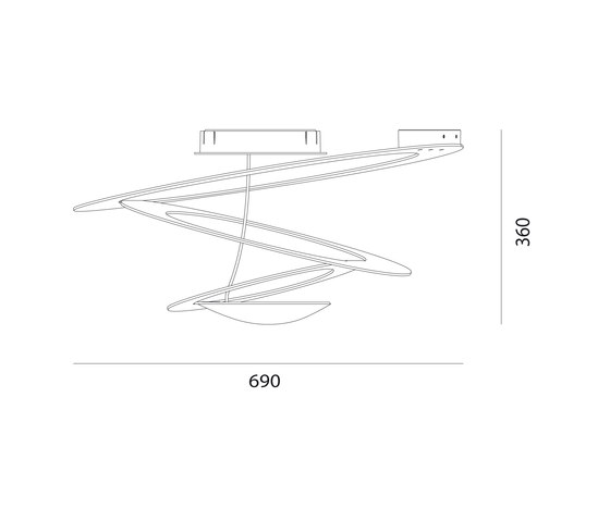 Pirce Mini Plafonnier de Artemide | Plafonniers