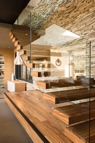 Straight Stairs Wood TRE-579 by EeStairs | Staircase systems