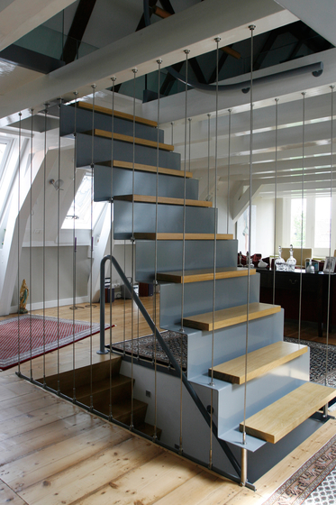 Straight Stairs Wood TRE-341 by EeStairs | Staircase systems
