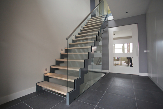 Straight Stairs Wood TRH-597 by EeStairs | Staircase systems