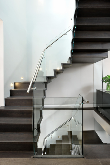 Straight Stairs Wood TRE-999 by EeStairs | Staircase systems