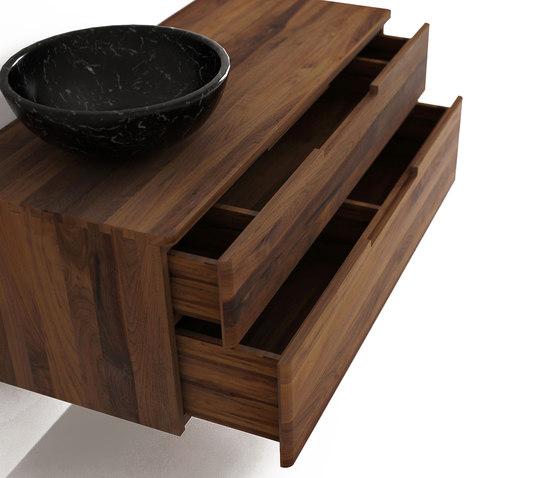 Baker HANGING BASIN 2 DRAWERS de Karpenter | Meubles muraux salle de bain