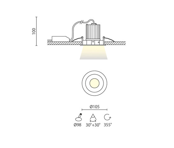 Biss di Aqlus | Lampade soffitto incasso