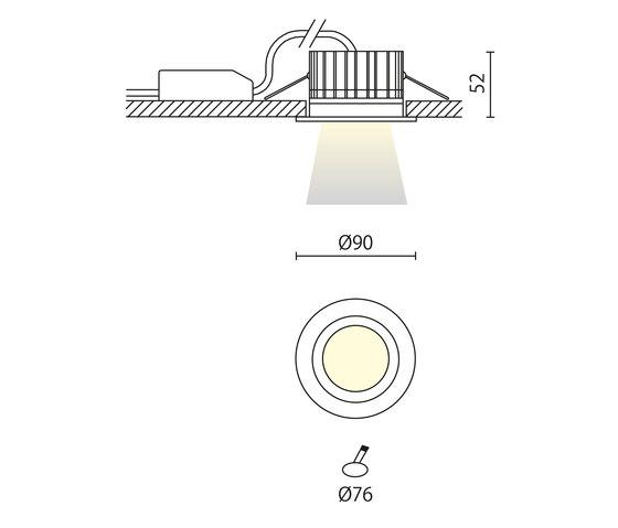 Idro tondo recessed de Aqlus | Spots