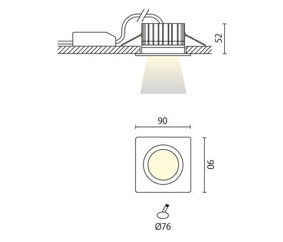 Idro quadro incasso di Aqlus | Lampade soffitto incasso