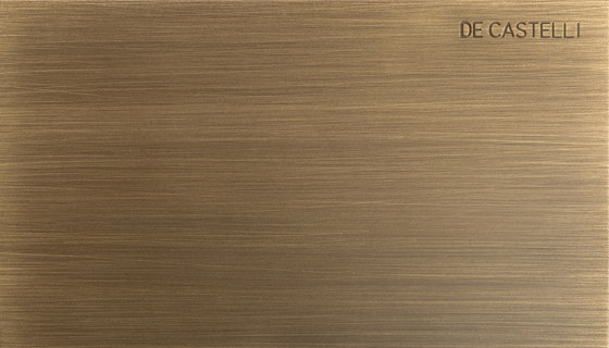 Striped DeLabré brass by De Castelli | Metal sheets
