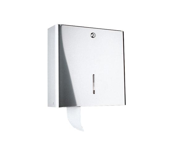 Hotellerie Toilettenpapierhalter, Wandmodell, Rolle Ø maxi 30cm von Inda | Toilettenpapierhalter