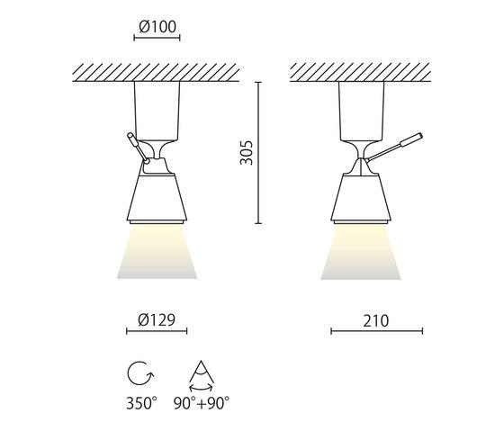 Harry proiettore di Aqlus | Lampade plafoniere