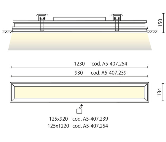 Palace rectangular with trim recessed by Aqlus | General lighting