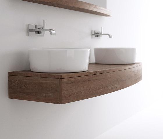 Miles HANGING BASIN 3 DRAWERS de Karpenter | Armarios lavabo