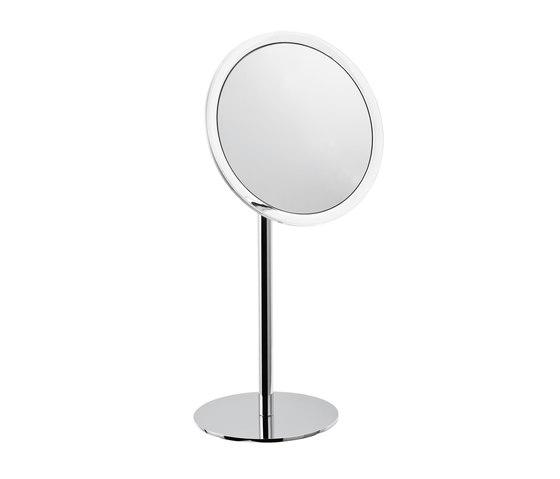 Hotellerie Vergrößerungsspiegel Standmodell, Spiegel Ø 20 cm von Inda | Spiegel