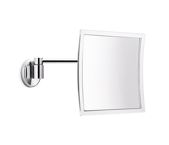 Hotellerie Wall-mounted magnifying mirror, with jointed arm, L 20 cm mirror by Inda | Bath mirrors