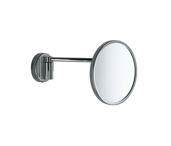 Hotellerie Wall-mounted magnifying mirror, with jointed arm, 18 cm Ø mirror by Inda | Bath mirrors
