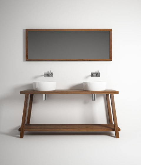 Monk by karpenter mirror standing single basin for Miroir 160 x 50