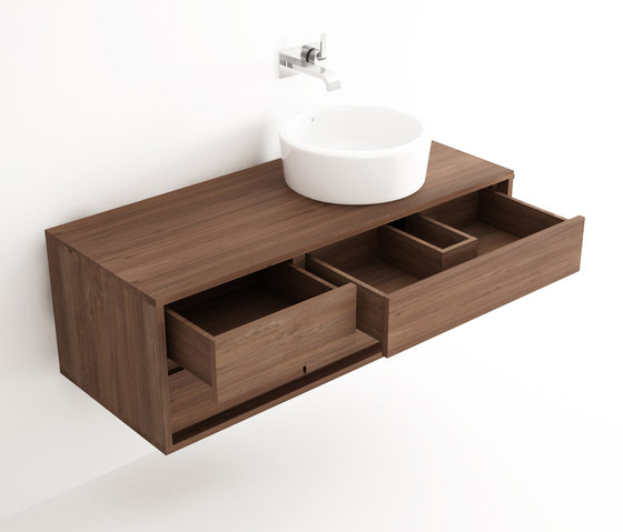 Parker HANGING BASIN 4 DRAWERS by Karpenter | Vanity units