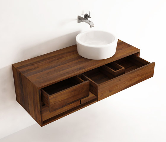Parker HANGING BASIN 4 DRAWERS de Karpenter | Meubles sous-lavabo