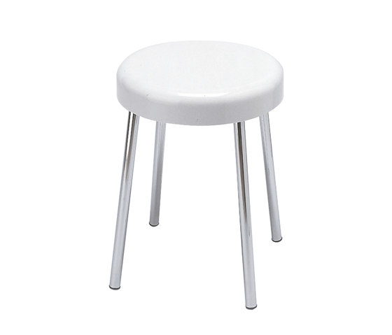 Hotellerie Stool with seat in ureic resin (UF), steel legs by Inda | Bath stools / benches