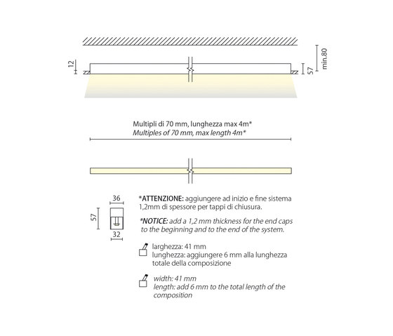 Miniline sistema incasso di Aqlus | Lampade parete incasso