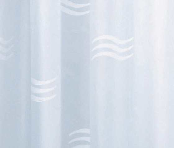 Hotellerie Curtain in waterproofed polyester (PE), wavy drawing with 11 hooks by Inda | Shower curtains