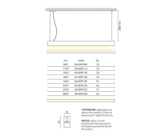 Line Pro hanging system von Aqlus | Pendelleuchten