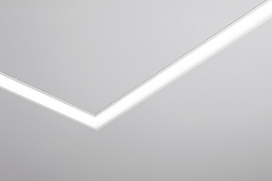 Line 2x Seamless recessed system with trim by Aqlus | Recessed wall lights