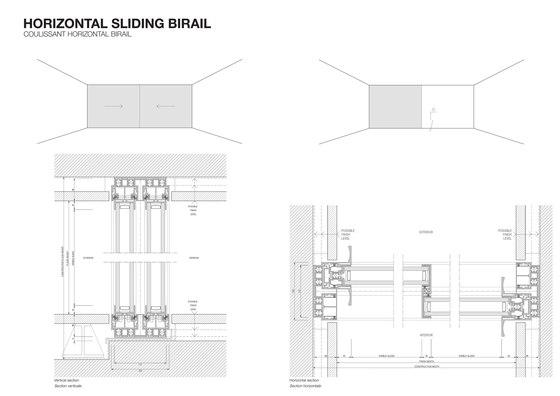 Horizontal sliding by OTIIMA | Patio doors